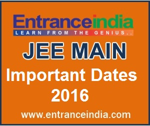 Jee main important dates for exam admit card online application