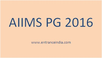 AIIMS PG 2016 General Information