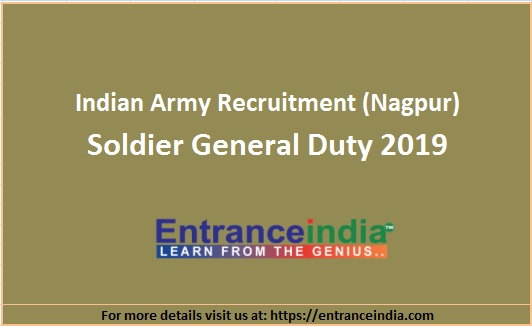 Indian Army Nagpur Soldier General Duty Recruitment 2019