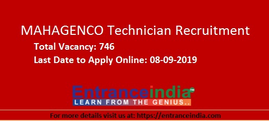 MAHAGENCO Technician Recruitment 2019