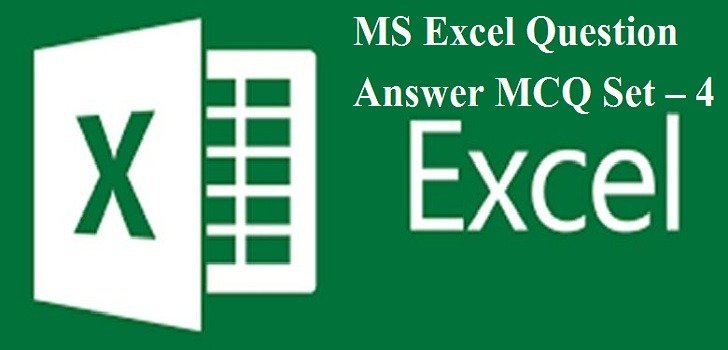 MS Excel MCQ question answer Test
