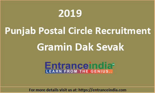 Punjab-Postal-Circle-Recruitment-2019-851-Gramin-Dak-Sevak-Posts