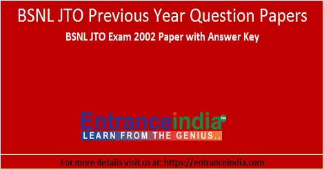 BSNL JTO 2002 question paper