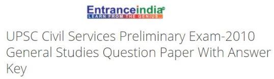 UPSC Civil Services Preliminary Exam-2010 General Studies